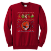 NFL - Cleveland Browns Christmas Grateful Dead Jingle Bears Football Ugly Sweatshirt-T-shirt-Youth Crewneck Sweatshirt-Red-XS-Itees Global