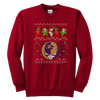 NFL - Baltimore Ravens Christmas Grateful Dead Jingle Bears Football Ugly Sweatshirt-T-shirt-Youth Crewneck Sweatshirt-Red-XS-Itees Global