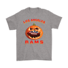 NFL – Halloween Pumpkin Los Angeles Rams Football NFL Shirts-T-shirt-Gildan Mens T-Shirt-Sport Grey-S-Itees Global