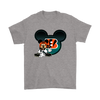 NFL – Cincinnati Bengals Mickey Mouse Football Shirts-T-shirt-Gildan Mens T-Shirt-Sport Grey-S-PopsSpot