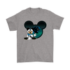 NFL – Carolina Panthers Mickey Mouse Football Shirts-T-shirt-Gildan Mens T-Shirt-Sport Grey-S-Itees Global