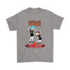 NFL - Cleveland Browns Rick And Morty Football NFL Shirts-T-shirt-Gildan Mens T-Shirt-Sport Grey-S-PopsSpot
