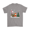 NFL – Denver Broncos Snoopy The Peanuts Movie Christmas Football Super Bowl Shirt-T-shirt-Gildan Mens T-Shirt-Sport Grey-S-PopsSpot