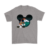 NFL – Denver Broncos Mickey Mouse Football Shirts-T-shirt-Gildan Mens T-Shirt-Sport Grey-S-Itees Global