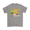 NFL – Cleveland Browns Makes Me Happy You Not So Much The Grinch Football Sweatshirt-T-shirt-Gildan Mens T-Shirt-Sport Grey-S-Itees Global