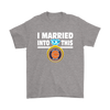 NFL - I Married Into This Chicago Bears Football Sweatshirt-T-shirt-Gildan Mens T-Shirt-Sport Grey-S-PopsSpot