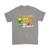 NFL – Houston Texans Makes Me Happy You Not So Much The Grinch Football Sweatshirt-T-shirt-Gildan Mens T-Shirt-Sport Grey-S-PopsSpot