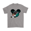 NFL – Atlanta Falcons Mickey Mouse Football Shirts-T-shirt-Gildan Mens T-Shirt-Sport Grey-S-PopsSpot