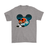 NFL – Cleveland Browns Mickey Mouse Football Shirts-T-shirt-Gildan Mens T-Shirt-Sport Grey-S-Itees Global