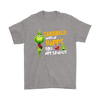 NFL – Arizona Cardinals Makes Me Happy You Not So Much The Grinch Football Sweatshirt-T-shirt-Gildan Mens T-Shirt-Sport Grey-S-PopsSpot