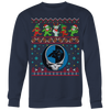NFL - Carolina Panthers Christmas Grateful Dead Jingle Bears Football Ugly Sweatshirt-T-shirt-Crewneck Sweatshirt Big Print-Navy-S-PopsSpot
