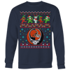 NFL - Cleveland Browns Christmas Grateful Dead Jingle Bears Football Ugly Sweatshirt-T-shirt-Crewneck Sweatshirt Big Print-Navy-S-Itees Global