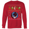 NFL - Carolina Panthers Christmas Grateful Dead Jingle Bears Football Ugly Sweatshirt-T-shirt-Crewneck Sweatshirt Big Print-Red-S-PopsSpot