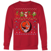 NFL - Cleveland Browns Christmas Grateful Dead Jingle Bears Football Ugly Sweatshirt-T-shirt-Crewneck Sweatshirt Big Print-Red-S-Itees Global