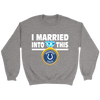NFL - I Married Into This Indianapolis Colts Football Sweatshirt-T-shirt-Crewneck Sweatshirt-Sport Grey-S-PopsSpot