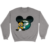 NFL – Green Bay Packers Mickey Mouse Football Shirt-T-shirt-Crewneck Sweatshirt-Sport Grey-S-Itees Global