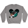 NFL – Atlanta Falcons Mickey Mouse Football Shirt-T-shirt-Crewneck Sweatshirt-Sport Grey-S-PopsSpot