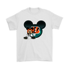 NFL – Cincinnati Bengals Mickey Mouse Football Shirts-T-shirt-Gildan Mens T-Shirt-White-S-PopsSpot