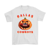 NFL – Halloween Pumpkin Dallas Cowboys Football NFL Shirts-T-shirt-Gildan Mens T-Shirt-White-S-Itees Global