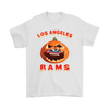 NFL – Halloween Pumpkin Los Angeles Rams Football NFL Shirts-T-shirt-Gildan Mens T-Shirt-White-S-Itees Global