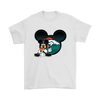 NFL – Denver Broncos Mickey Mouse Football Shirts-T-shirt-Gildan Mens T-Shirt-White-S-Itees Global