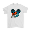 NFL – Cleveland Browns Mickey Mouse Football Shirts-T-shirt-Gildan Mens T-Shirt-White-S-Itees Global