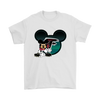 NFL – Atlanta Falcons Mickey Mouse Football Shirts-T-shirt-Gildan Mens T-Shirt-White-S-PopsSpot