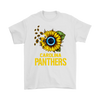 NFL - Carolina Panthers Sunflower Football NFL Shirts-T-shirt-Gildan Mens T-Shirt-White-S-Itees Global