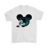 NFL – Carolina Panthers Mickey Mouse Football Shirts-T-shirt-Gildan Mens T-Shirt-White-S-Itees Global