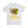 NFL - Denver Broncos Sunflower Football NFL Shirts-T-shirt-Gildan Mens T-Shirt-White-S-Itees Global