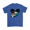 NFL – Denver Broncos Mickey Mouse Football Shirts-T-shirt-Gildan Mens T-Shirt-Royal Blue-S-Itees Global