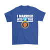 NFL - I Married Into This Chicago Bears Football Sweatshirt-T-shirt-Gildan Mens T-Shirt-Royal Blue-S-PopsSpot