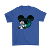 NFL – Carolina Panthers Mickey Mouse Football Shirts-T-shirt-Gildan Mens T-Shirt-Royal Blue-S-Itees Global