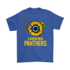 NFL - Carolina Panthers Sunflower Football NFL Shirts-T-shirt-Gildan Mens T-Shirt-Royal Blue-S-Itees Global