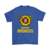 NFL - Denver Broncos Sunflower Football NFL Shirts-T-shirt-Gildan Mens T-Shirt-Royal Blue-S-Itees Global