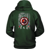 NFL - Cleveland Browns Captain America Marvel Football American Flag Sweatshirt-T-shirt-Unisex Hoodie-Dark Green-S-PopsSpot
