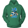 NFL - Detroit Lions Mickey Mouse Donald Duck Goofy Football Shirt-T-shirt-Unisex Hoodie-Kelly Green-S-PopsSpot