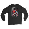NFL - Cleveland Browns Captain America Marvel Football American Flag Sweatshirt-T-shirt-Gildan Long Sleeve Tee-Black-S-PopsSpot