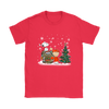 NFL – Denver Broncos Snoopy The Peanuts Movie Christmas Football Super Bowl Shirt-T-shirt-Gildan Womens T-Shirt-Red-S-PopsSpot