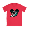 NFL – Atlanta Falcons Mickey Mouse Football Shirts-T-shirt-Gildan Womens T-Shirt-Red-S-PopsSpot