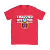 NFL - I Married Into This Houston Texans Football Sweatshirt-T-shirt-Gildan Womens T-Shirt-Red-S-Itees Global
