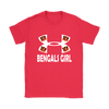 NFL – Cincinnati Bengals Girl Under Armour Football Shirts-T-shirt-Gildan Womens T-Shirt-Red-S-PopsSpot