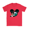 NFL – Denver Broncos Mickey Mouse Football Shirts-T-shirt-Gildan Womens T-Shirt-Red-S-Itees Global