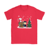 NFL – Chicago Bears Snoopy The Peanuts Movie Christmas Football Super Bowl Shirt-T-shirt-Gildan Womens T-Shirt-Red-S-PopsSpot