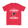 NFL - Never Underestimate A Woman Who Watches Football And Loves Atlanta Falcons Sweatshirt-T-shirt-Gildan Womens T-Shirt-Red-S-PopsSpot