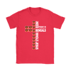 NFL – All I Need Today Is A Little Bit Of Cincinnati Bengals And A Whole Lot Of Jesus Football Shirts-T-shirt-Gildan Womens T-Shirt-Red-S-PopsSpot