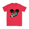 NFL – Cincinnati Bengals Mickey Mouse Football Shirts-T-shirt-Gildan Womens T-Shirt-Red-S-PopsSpot