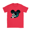 NFL – Carolina Panthers Mickey Mouse Football Shirts-T-shirt-Gildan Womens T-Shirt-Red-S-Itees Global