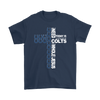 NFL – All I Need Today Is A Little Bit Of Indianapolis Colts And A Whole Lot Of Jesus Football Shirts-T-shirt-Gildan Mens T-Shirt-Navy-S-Itees Global