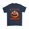 NFL – Halloween Pumpkin Dallas Cowboys Football NFL Shirts-T-shirt-Gildan Mens T-Shirt-Navy-S-Itees Global